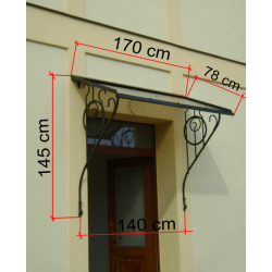 Secesní stříška 170x80 cm