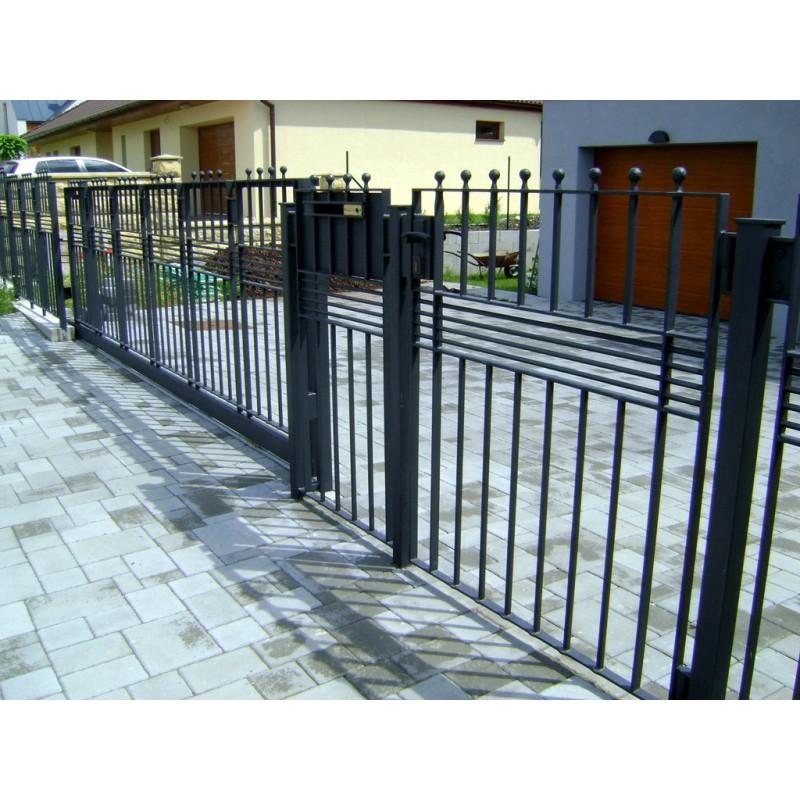 Kovový plot - originální design - Mladá Boleslav